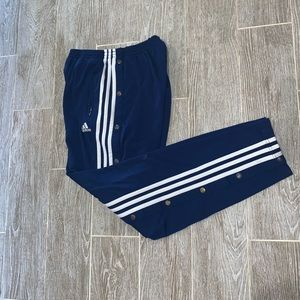 Adidas tear away pants men's medium